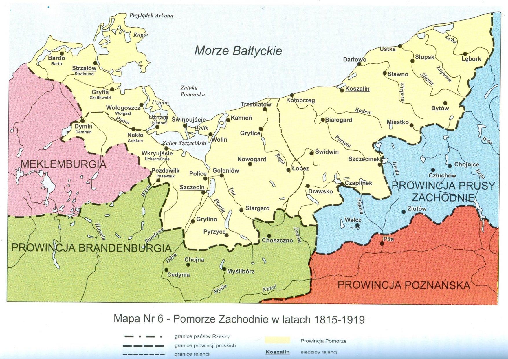 Mapy Zachodniopomorskie Porcelanki